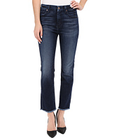 7 For All Mankind - High Waist Ankle Straight with Raw Hem in Acropolis Deep Sky