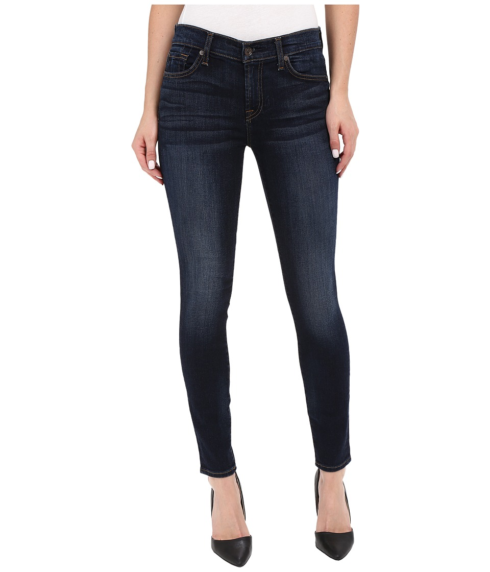 7 For All Mankind The Ankle Skinny with Tonal Squiggle in Heritage Night Heritage Night Womens Jeans