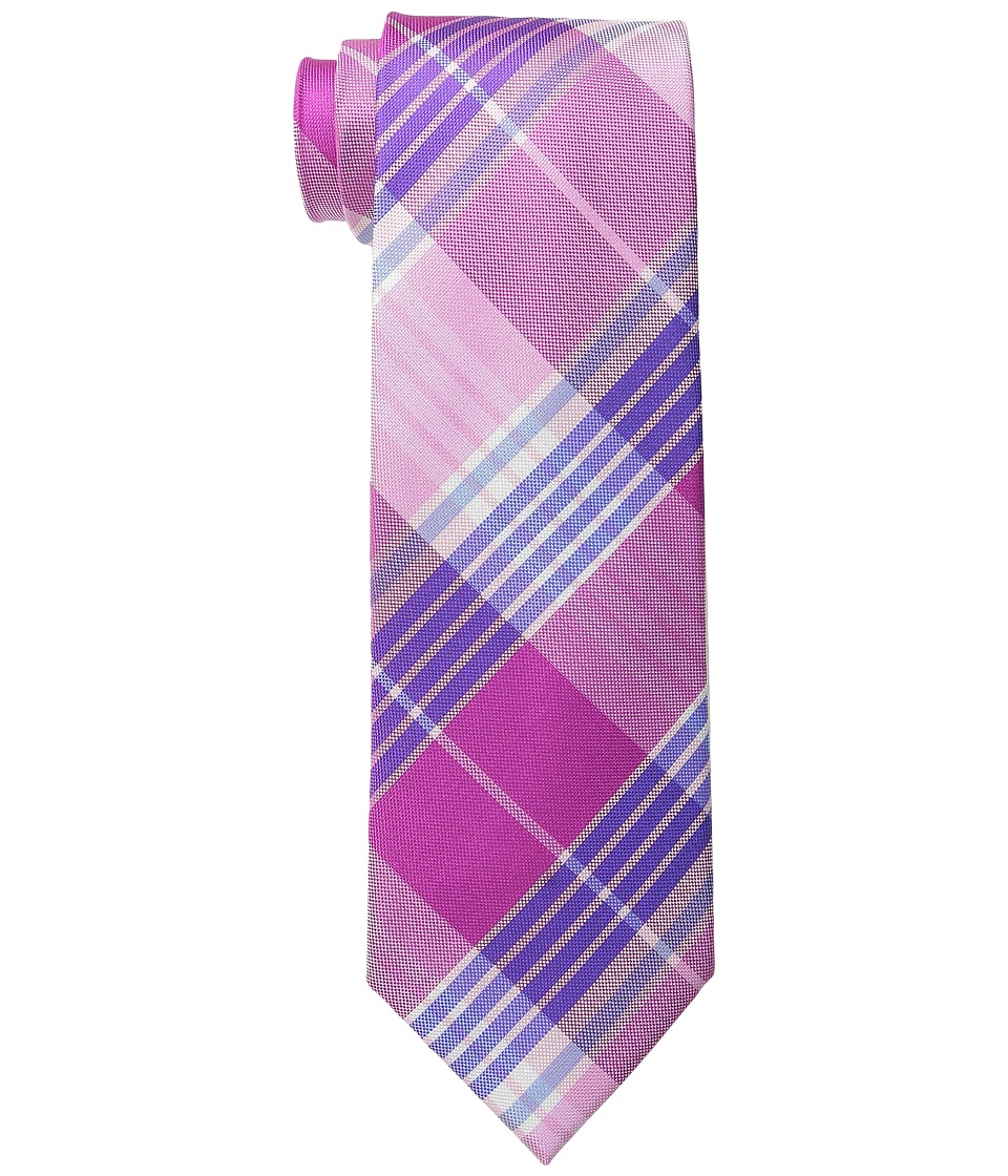 Tommy Hilfiger Big Twill Plaid Pink Ties