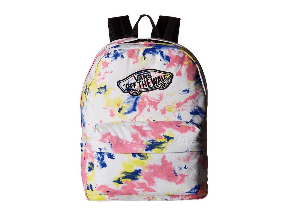Vans - Realm Backpack (White/Tie-Dye) Backpack Bags