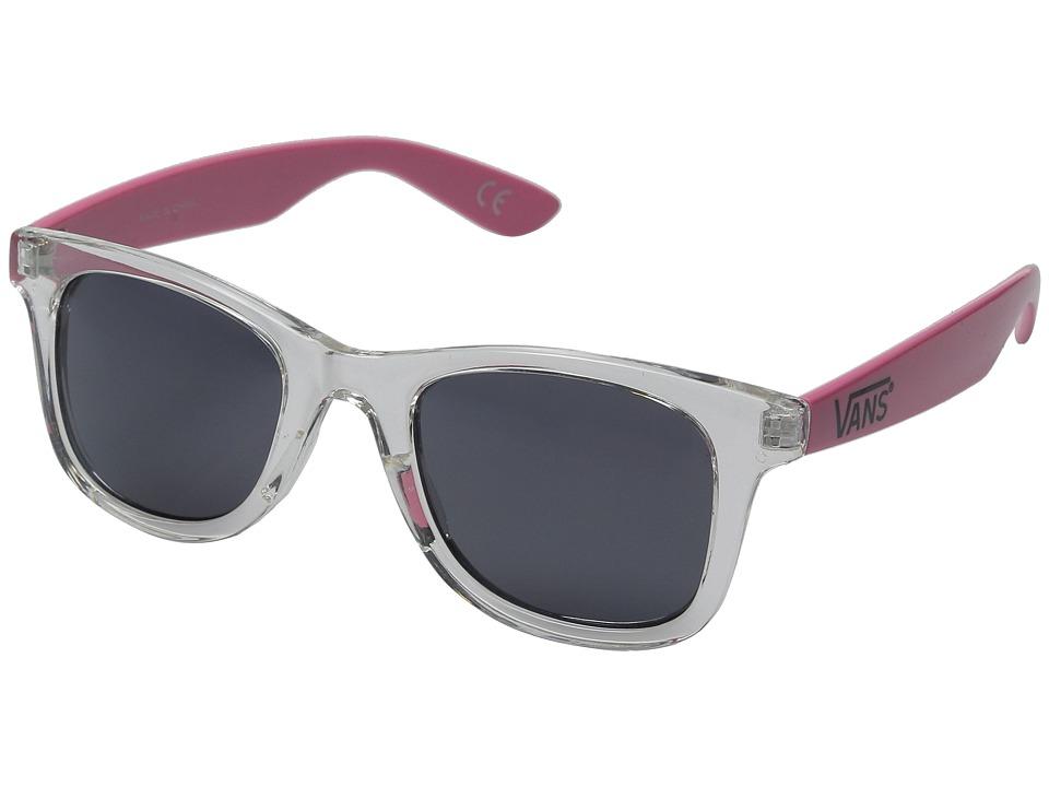 Vans Janelle Hipster Sunglasses Clear/Azalea Pink Sport Sunglasses