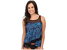Purr-Fection Mirage Layered Tankini Top