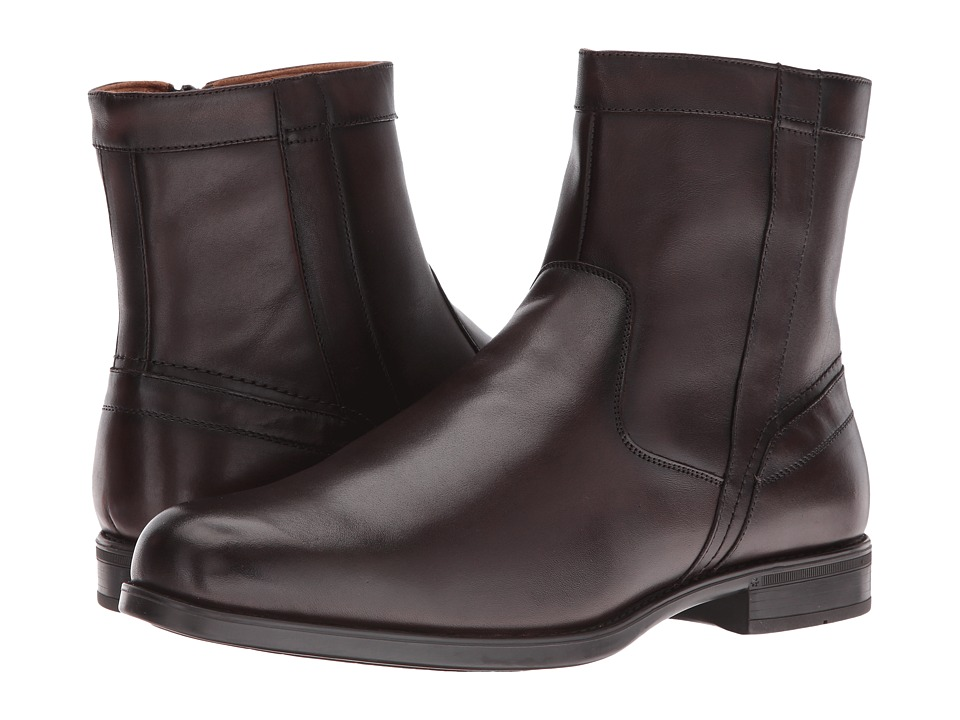 Florsheim Midtown Plain Toe Zip Boot (Brown Smooth) Men