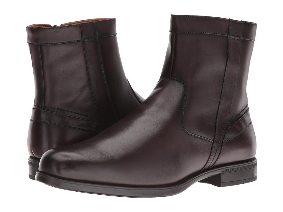 Florsheim Midtown Plain Toe Zip Boot (Brown Smooth) Men's...