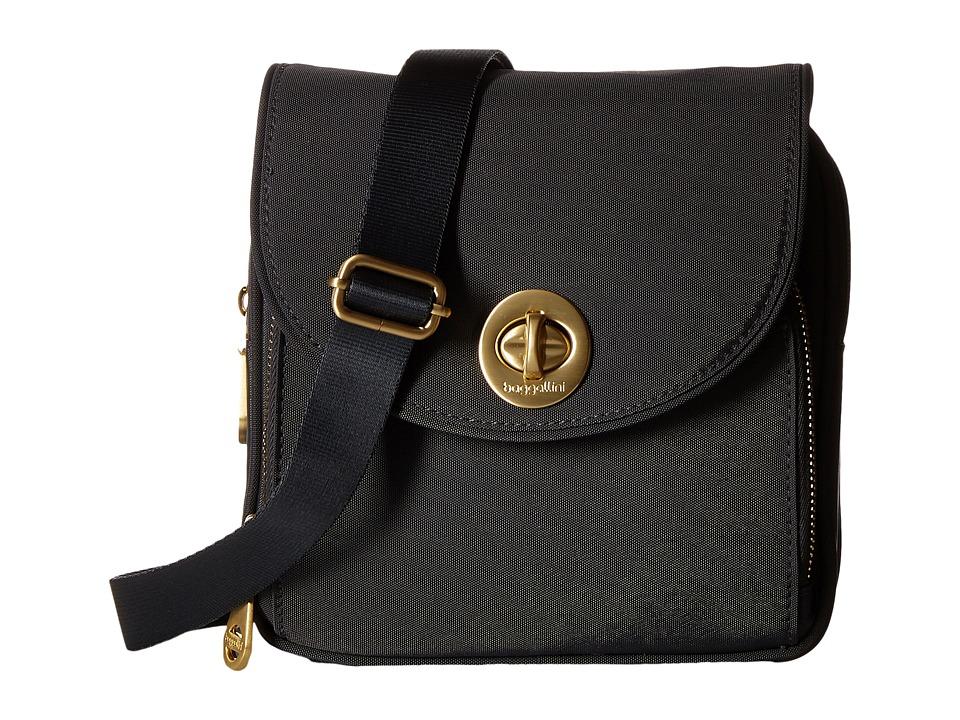 Baggallini Kensington Mini Charcoal Cross Body Handbags