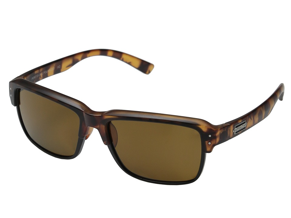 SunCloud Polarized Optics - Port O Call (Matte Tortoise/Brown Polarized Polycarbonate) Goggles