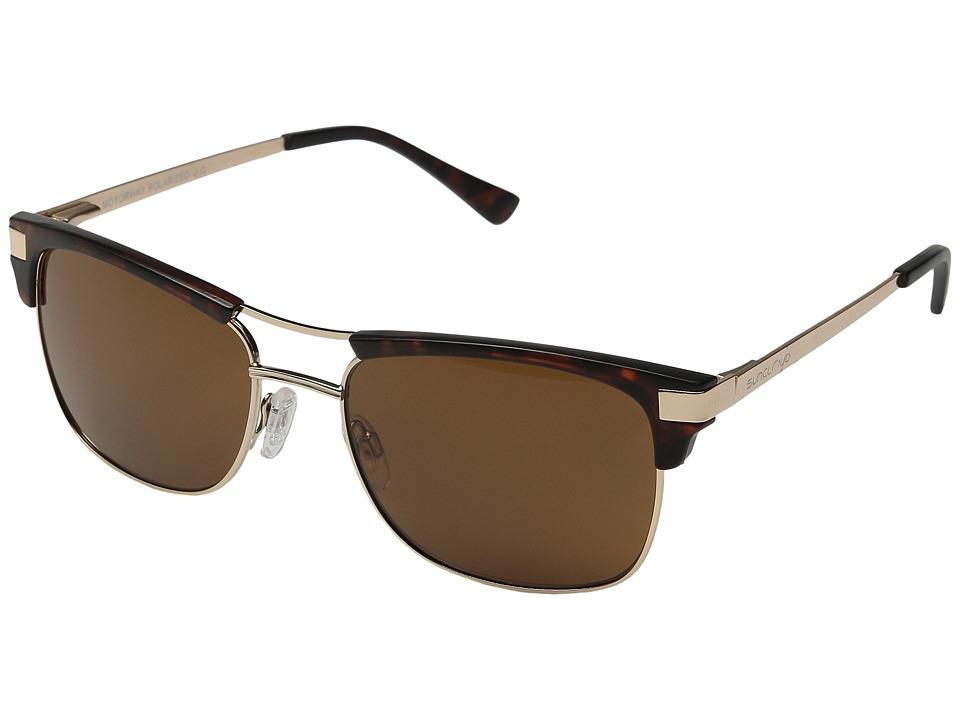 SunCloud Polarized Optics Motorway Matte Tortoise/Brown Polarized Polycarbonate Goggles