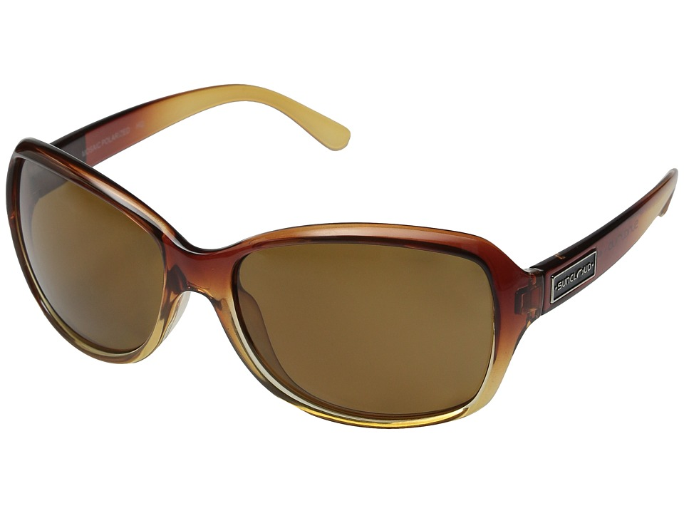 SunCloud Polarized Optics Mosaic Brown Fade/Brown Polarized Polycarbonate Goggles