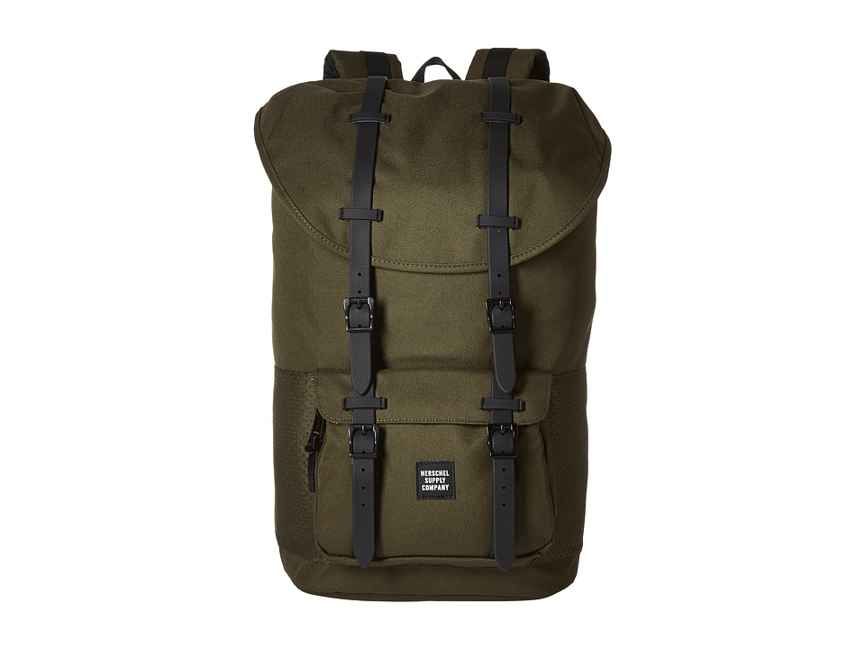 Herschel Supply Co. - Little America (Forest Night/Black Rubber) Backpack Bags