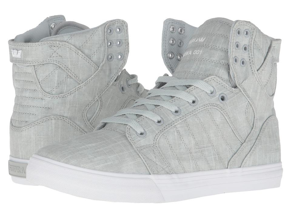 Supra - Skytop (Washed Grey Canvas) Mens Skate Shoes