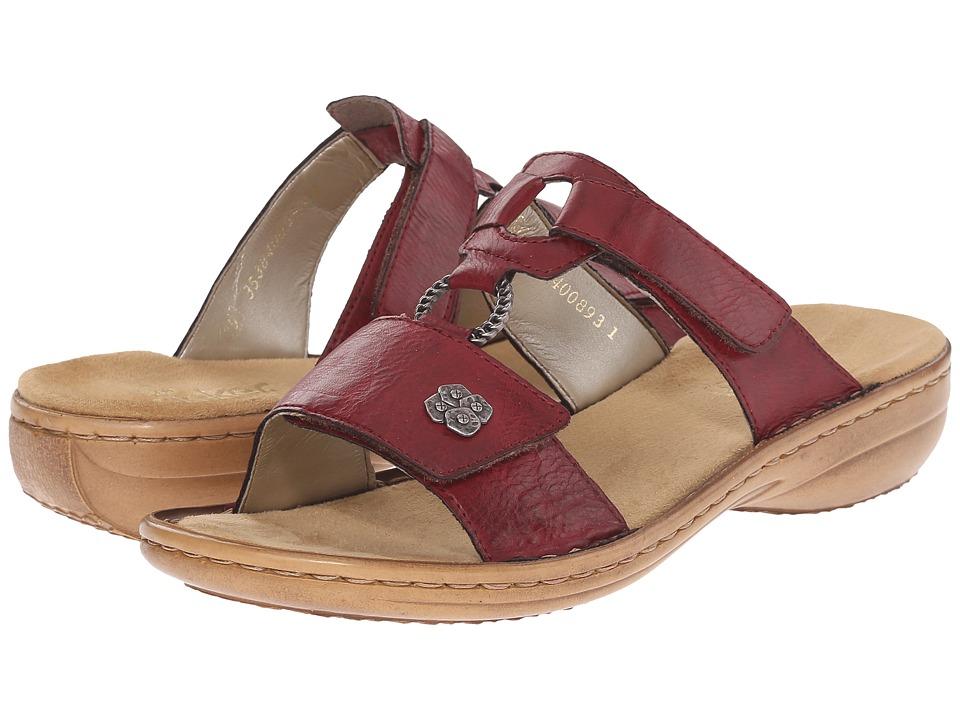Rieker 60829 Regina 29 Wine Womens Sandals