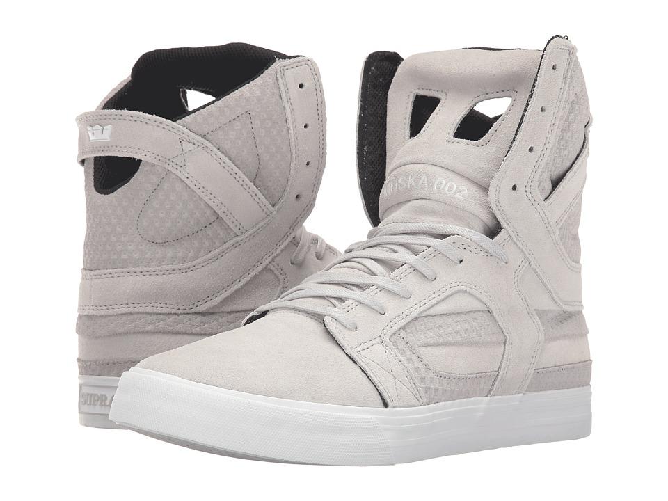 Supra - Skytop II (Light Grey Suede/Embossed Suede) Mens Skate Shoes
