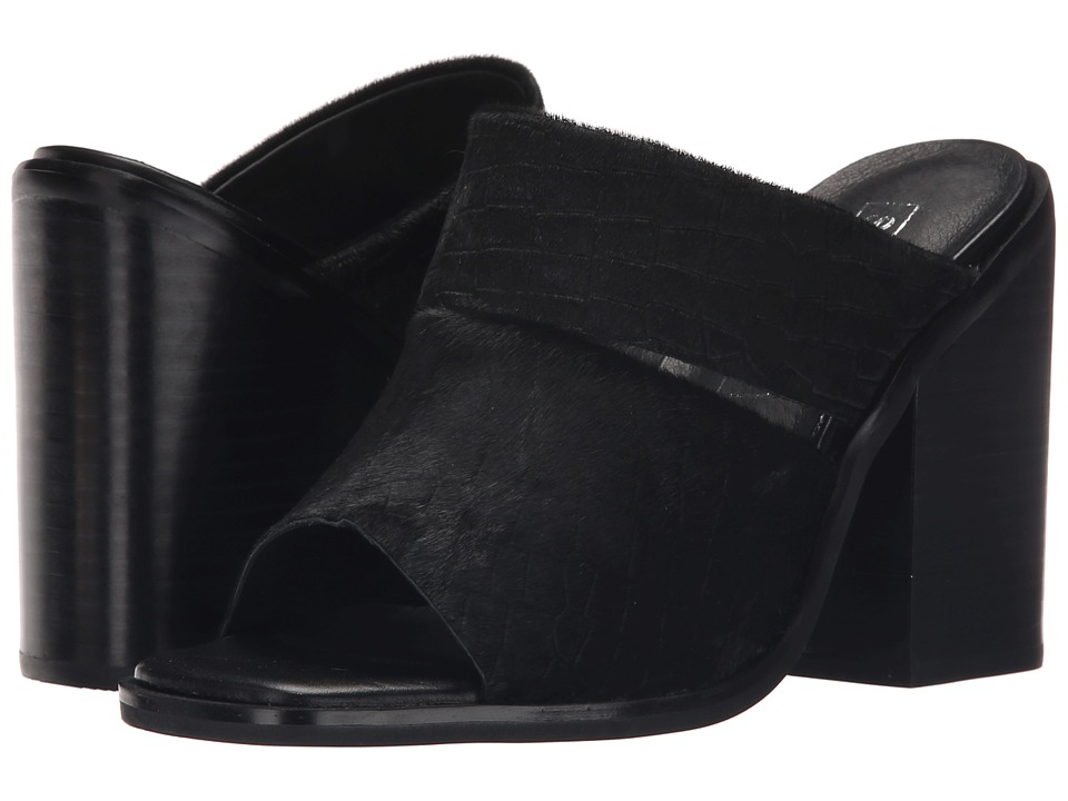 Sol Sana Dice Mule Black Pony Croc Womens Clog/Mule Shoes