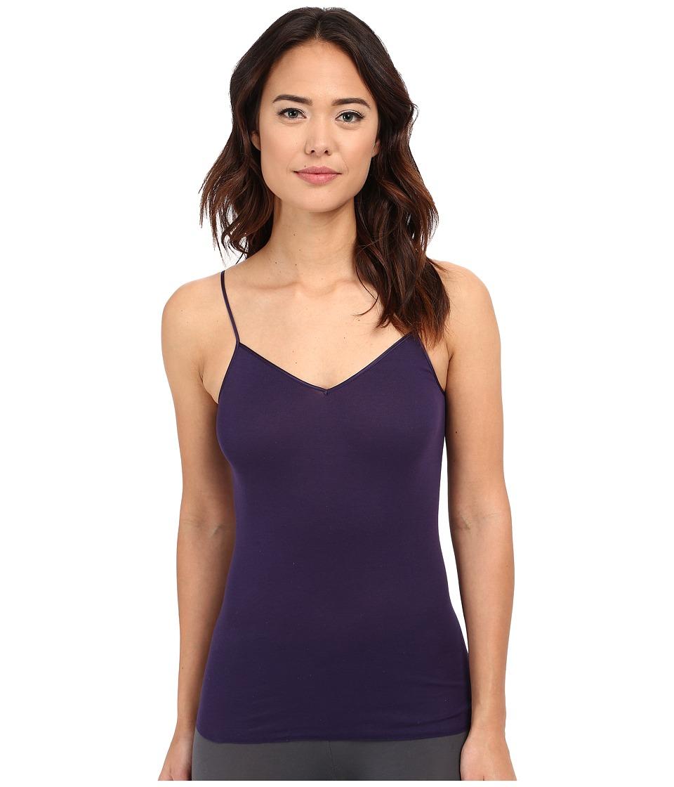 Hanro 30th Anniversary Cotton Seamless V Neck Camisole Violet Blue Womens Underwear