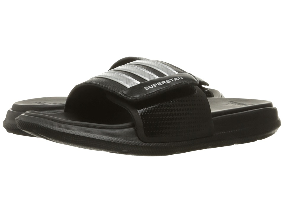 adidas Superstar 4G M Black/Silver Metallic Silver Mens Slide Shoes
