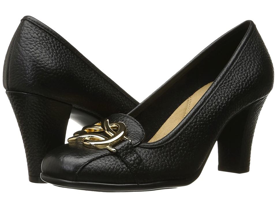Aerosoles Enrollment (Black Leather) High Heels