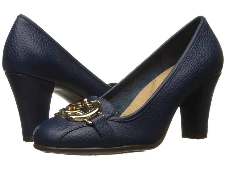 Aerosoles Enrollment (Dark Blue Leather) High Heels