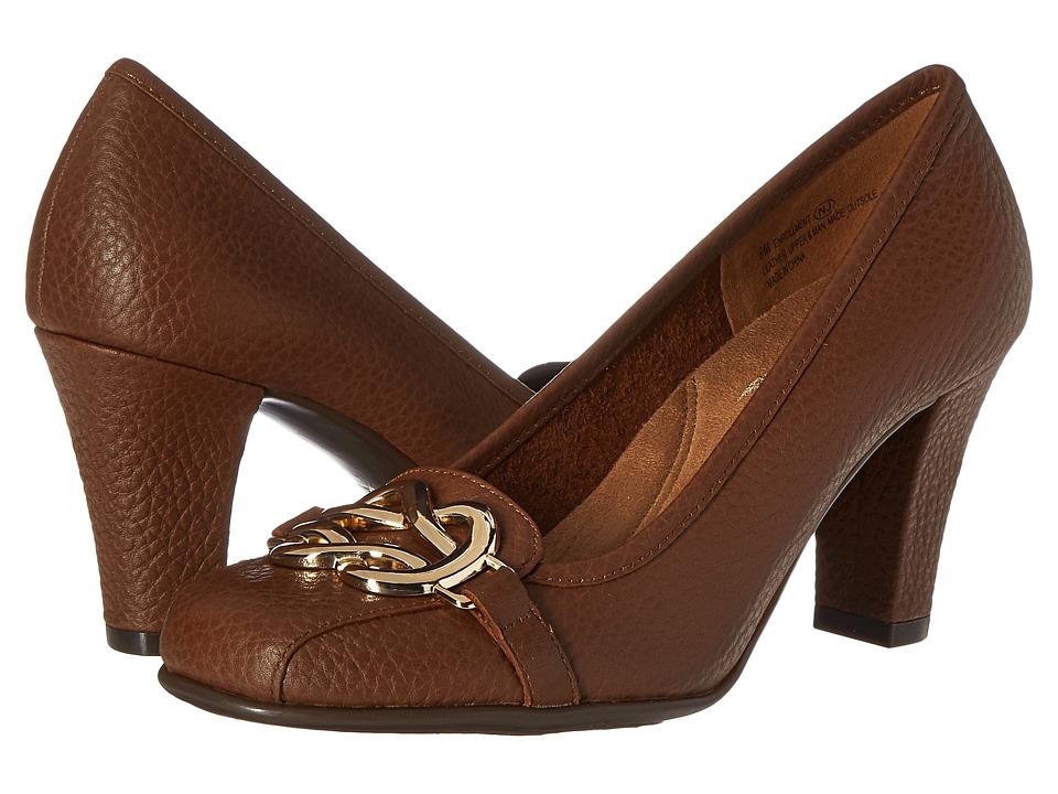 Aerosoles Enrollment (Dark Tan Leather) High Heels