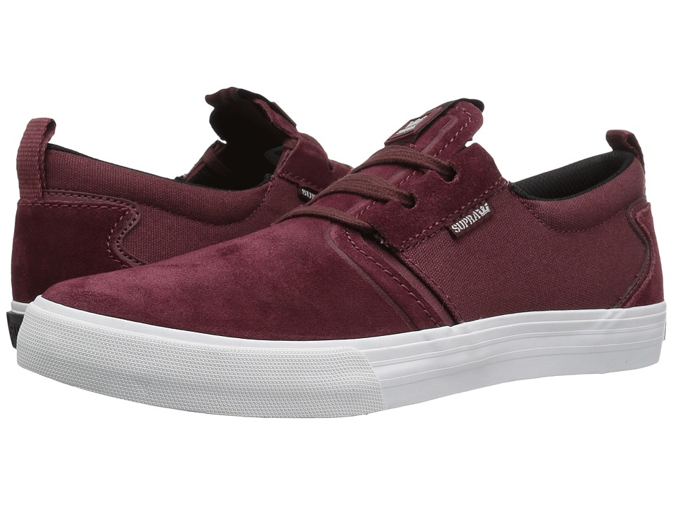 Supra Flow (Burgundy Suede) Men