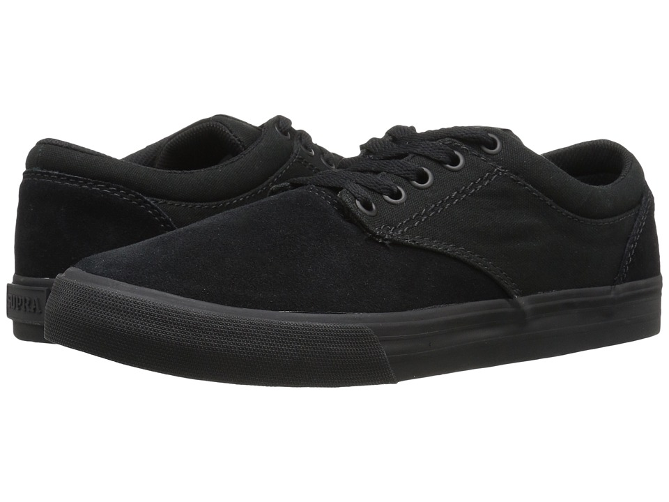 Supra Chino (Black Suede/Black) Men