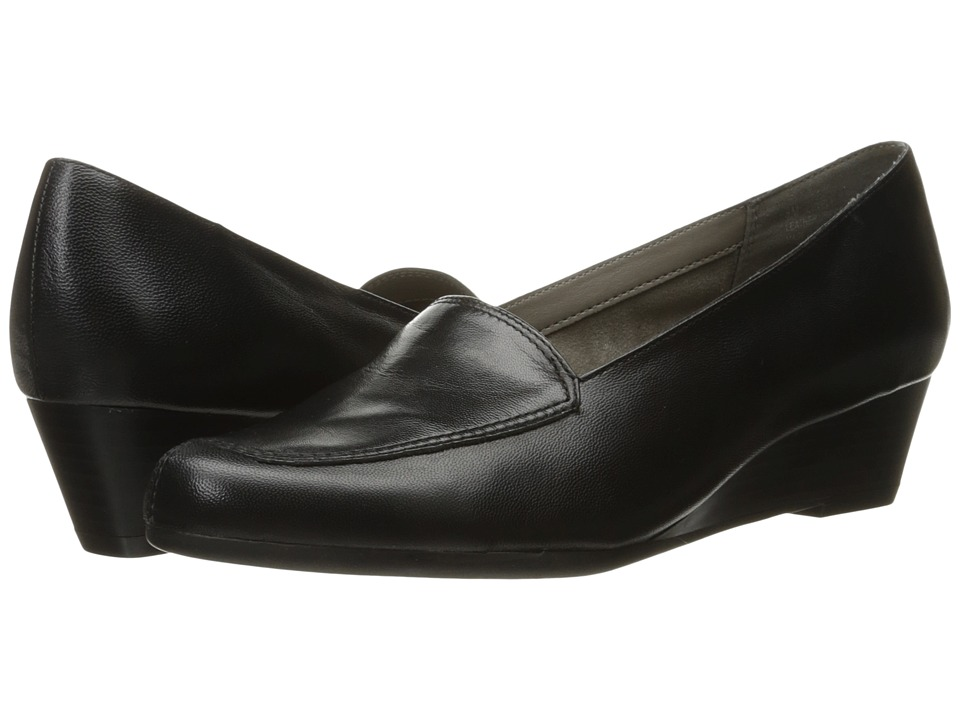 Aerosoles - Lovely (Black Leather) Womens Flat Shoes