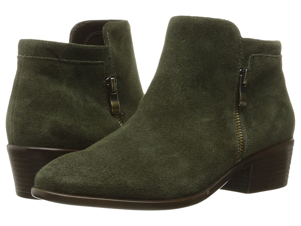 Vintage Style Boots Aerosoles - Mythology Dark Green Suede Womens Pull-on Boots $129.00 AT vintagedancer.com