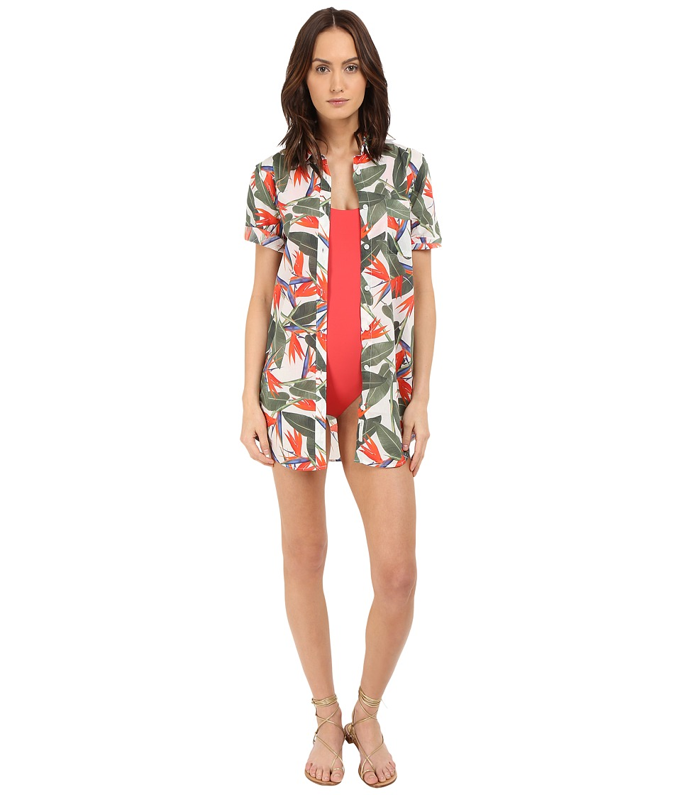 onia Jesse Cover Up Birds Of Paradise Womens Swimwear