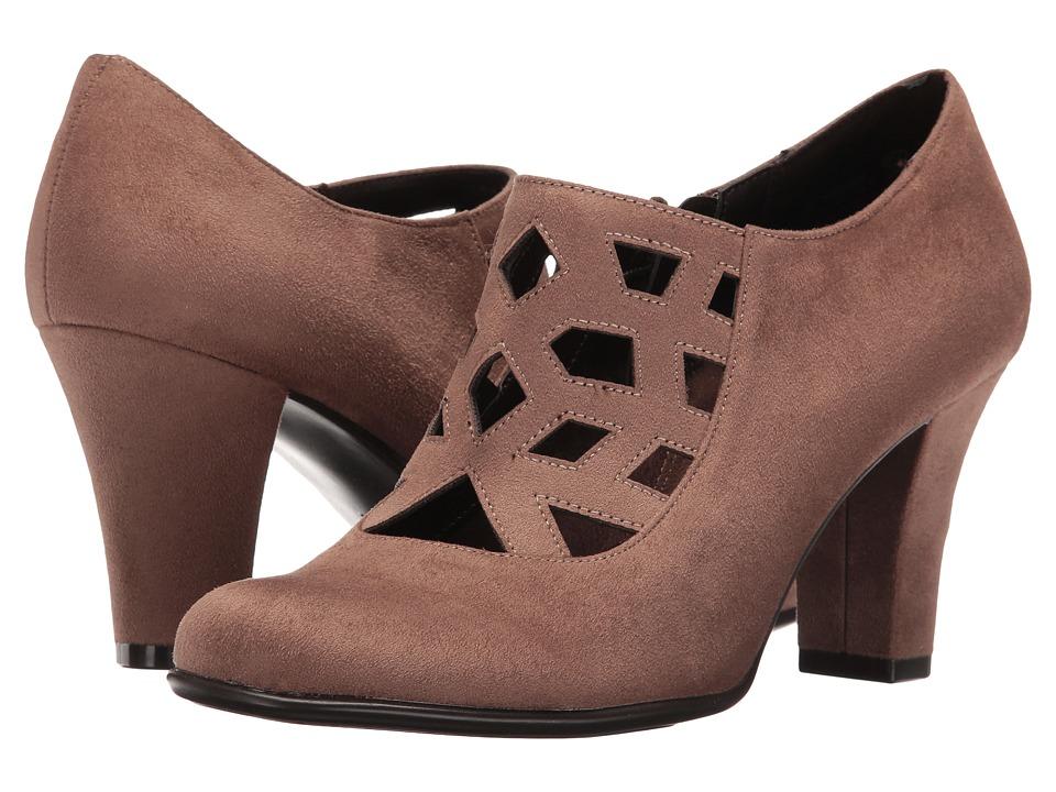 1940s Womens Shoe Styles Aerosoles - Petroleum Taupe Fabric High Heels $60.00 AT vintagedancer.com