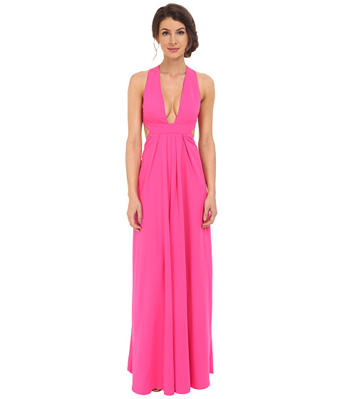 JILL JILL STUART Deep V-Side Cut Out 2-Ply Crepe Gown
