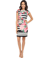 Vince Camuto - Printed Scuba Cap Sleeve Shift Dress