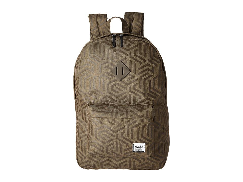 Herschel Supply Co. - Heritage (Metric/Black Rubber) Backpack Bags