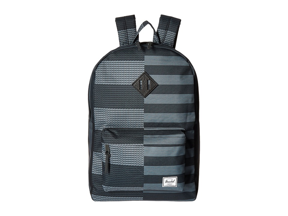 Herschel Supply Co. - Heritage (Routes/Black Synthetic Leather) Backpack Bags