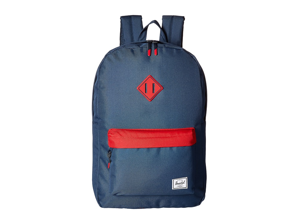 Herschel Supply Co. - Heritage (Navy/Red/Navy Rubber/Red Inserts) Backpack Bags