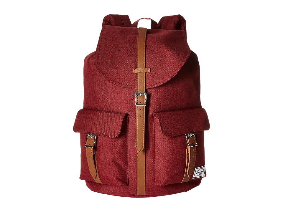 Herschel Supply Co. - Dawson (Wine Tasting Crosshatch/Tan Pebbled Leather) Bags