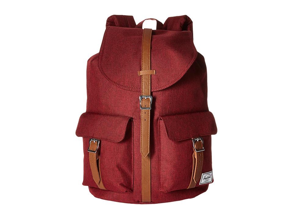 Herschel Supply Co. - Dawson (Wine Tasting Crosshatch/Tan Pebbled Leather) Bags