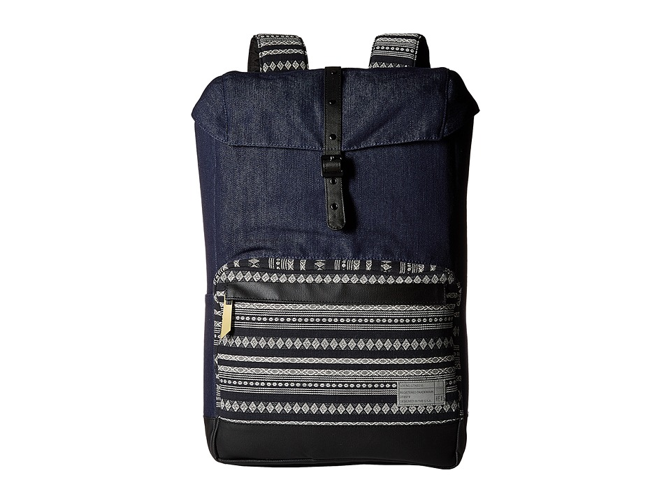 HEX Coast Backpack Denim/Stripe Backpack Bags