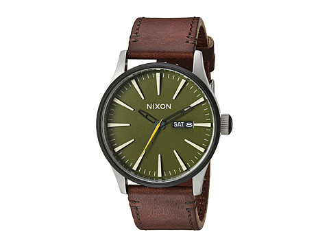 Nixon The Sentry Leather X Timberline Valley Collection - Surplus/Brown