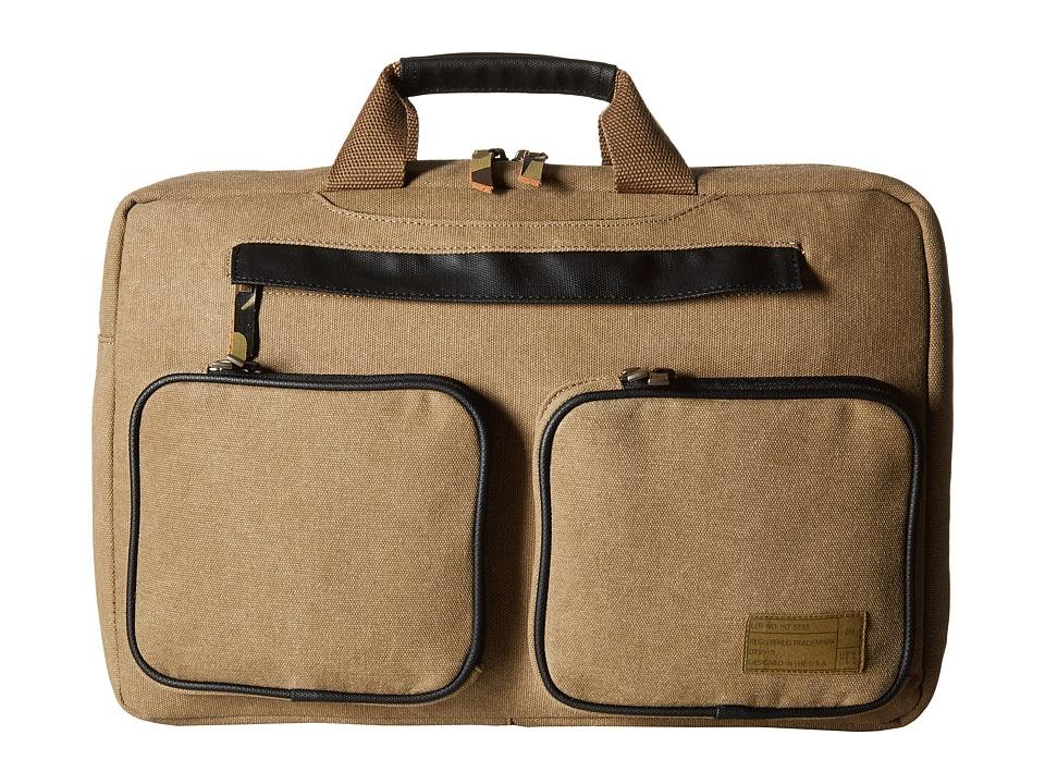 HEX - Convertible Briefcase (Khaki) Briefcase Bags