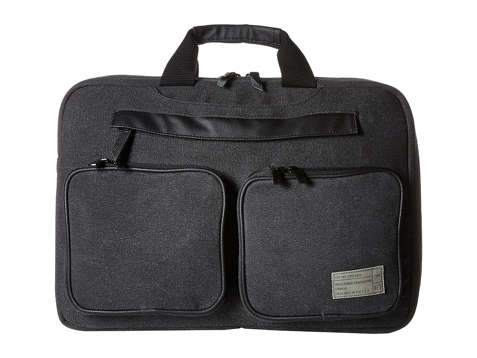 HEX Convertible Briefcase Charcoal Canvas Briefcase Bags