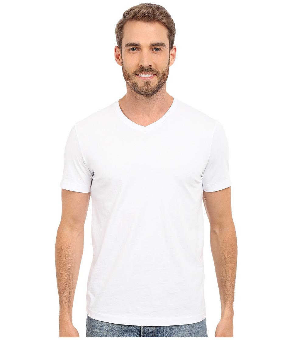Mod-o-doc - Del Mar Short Sleeve V-Neck Tee (White) Men's...