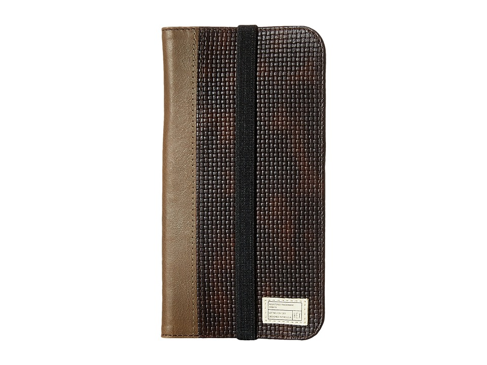HEX - iPhone6+/6S+ Icon Wallet (Brown Woven) Cell Phone Case