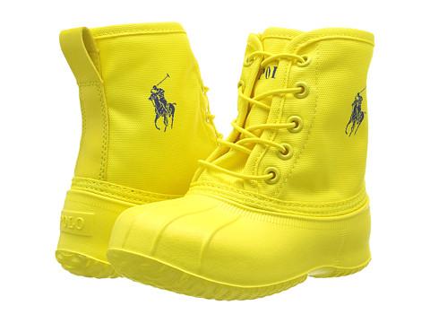 Polo Ralph Lauren Kids Eisley (Toddler) - Yellow Ballistic Nylon/Royal Pony Player