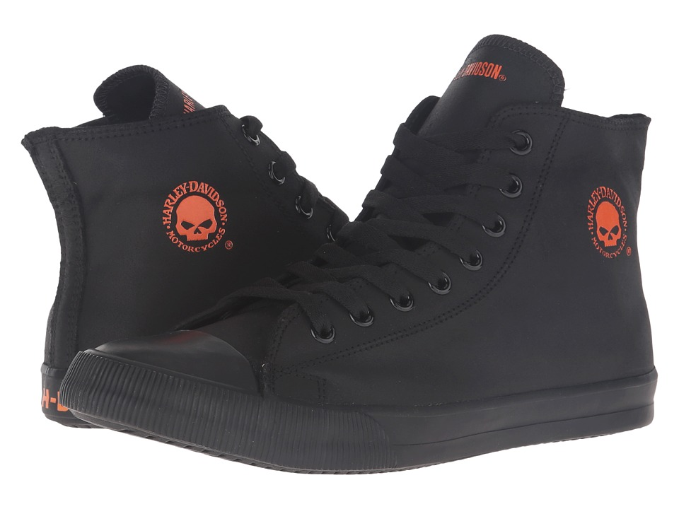 Harley-Davidson - Baxter (Black/Orange) Mens Lace up casual Shoes