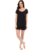 Midnight by Carole Hochman - Shorty PJ with Matte Satin