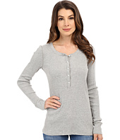 Three Dots - Sofia Long Sleeve Rib Henley