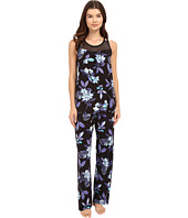 Midnight by Carole Hochman - Pajama with Geo Mesh Lace