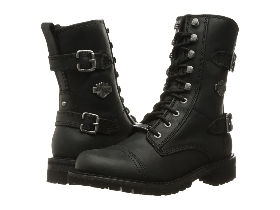 Harley Davidson Balsa (Black) Women's Lace-up Boots