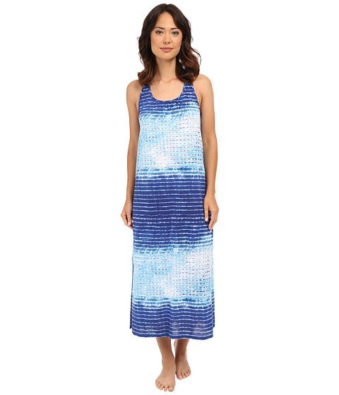 LAUREN Ralph Lauren Maxi Gown - Stripe Blue