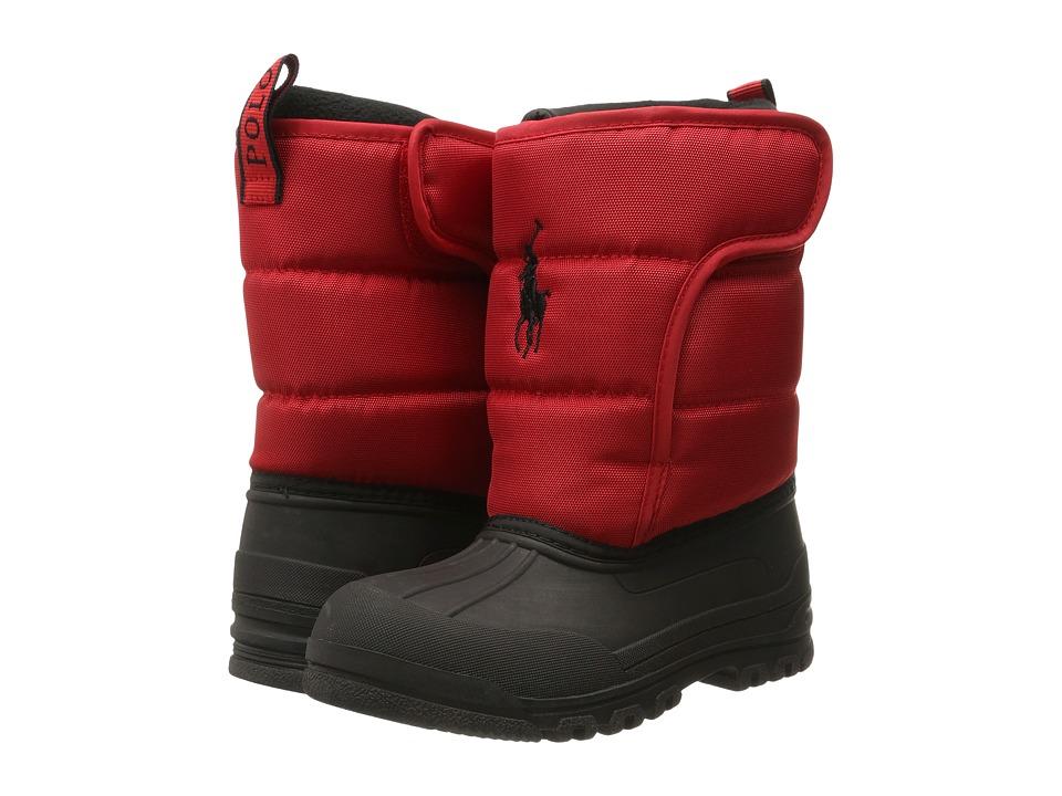 Polo Ralph Lauren Kids - Hamilten II EZ (Little Kid) (Red Heavy Nylon) Kids Shoes