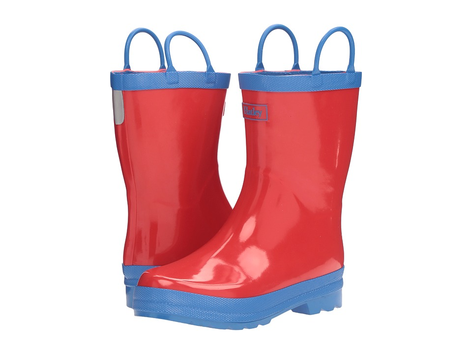 Hatley Kids Red Blue Rain Boots (Toddler/Little Kid) (Red) Boys Shoes